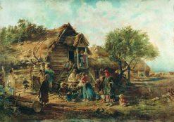Village Scene | Konstantin Yegorovich Makovsky | Oil Painting