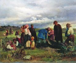 Funeral of a Child | Konstantin Yegorovich Makovsky | Oil Painting