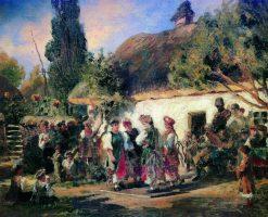 Festivities in Ukraine | Konstantin Yegorovich Makovsky | Oil Painting