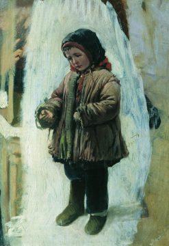 Child on the Snow | Konstantin Yegorovich Makovsky | Oil Painting