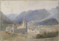 View of Mariazell | Rudolf von Alt | Oil Painting
