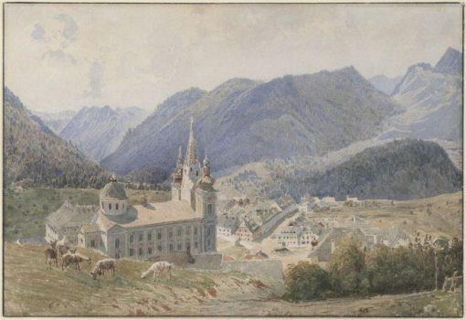 View of Mariazell   Rudolf von Alt   Oil Painting