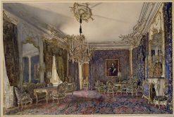 Blue Salon in the Palace of Hofburg | Rudolf von Alt | Oil Painting