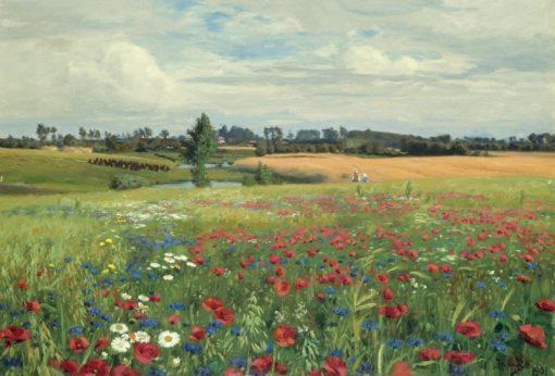 Field with Poppies and Daisies | Hans Andersen Brendekilde | Oil Painting