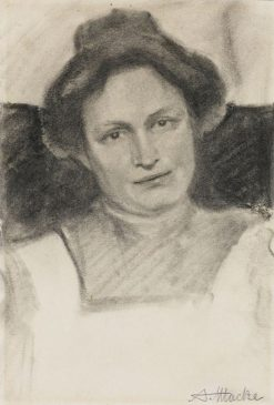 Portrait of Liese Schmidtbonn | August Macke | Oil Painting