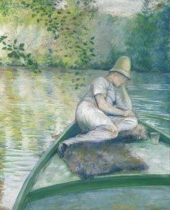 Canotier sur lYerres | Gustave Caillebotte | Oil Painting
