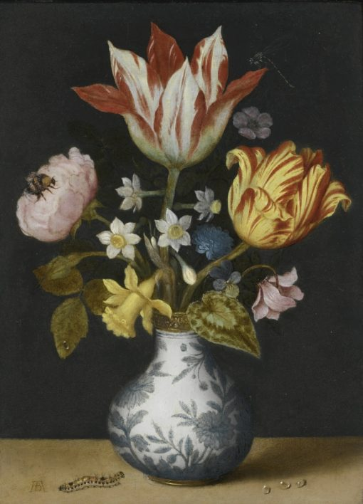 Still Life with Flowers in a Wan-Li Vase | Ambrosius Bosschaert | Oil Painting