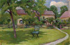 Unser Gartchen und Krankenhaus in Tegernsee | August Macke | Oil Painting