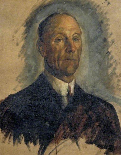 Sketch of Admiral of the Fleet Sir John Jellicoe   Glyn Warren Philpot   Oil Painting