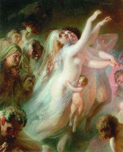Charon Carrying Souls of the Newly Deceased Across the River Styx | Konstantin Yegorovich Makovsky | Oil Painting