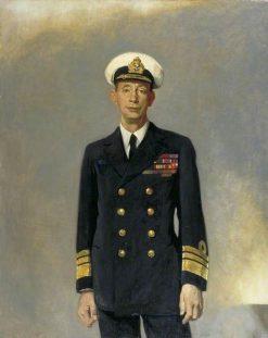 Vice Admiral Sir Roger Keye | Glyn Warren Philpot | Oil Painting