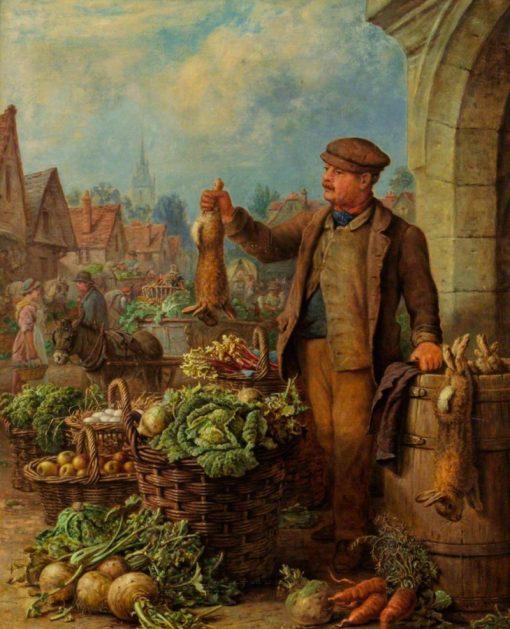 Market Vendor | Henry Charles Bryant | Oil Painting