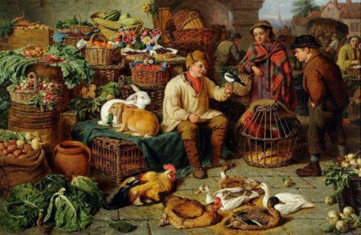Market Scene | Henry Charles Bryant | Oil Painting