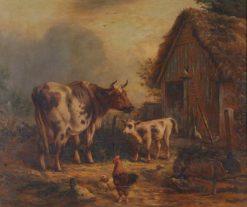 Farmyard Scene | Henry Charles Bryant | Oil Painting