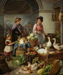 Portsmouth Market | Henry Charles Bryant | Oil Painting