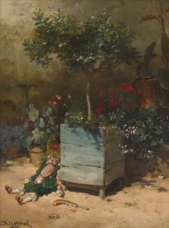 Punchinello in the Garden | Jules Frederic Ballavoine | Oil Painting