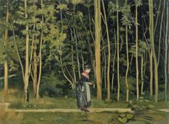 Walk Along the Border of a Wood | Ferdinand Hodler | Oil Painting