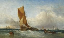 A Swim-Headed Barge | James Webb | Oil Painting