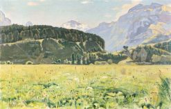 Summer Landscape near Interlaken | Ferdinand Hodler | Oil Painting