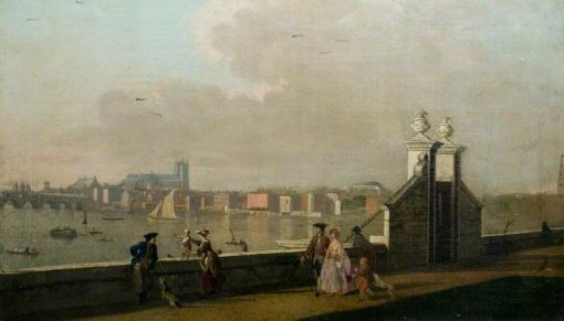 View from the Terrace of Old Somerset House | Paul Sandby