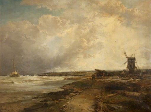 After a Thunderstorm on the Sussex Coast | James Webb | Oil Painting