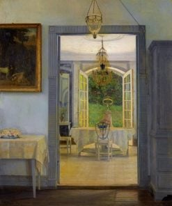 Interior with Afternoon Sun | Georg Nicolaj Achen | Oil Painting