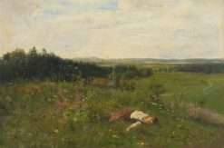 Young Girl in a Meadow | Adolf Echtler | Oil Painting