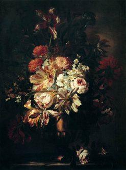 Flowers in a Bronze Vase   Abraham Brueghel   Oil Painting