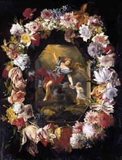Garland of Flowers | Abraham Brueghel | Oil Painting