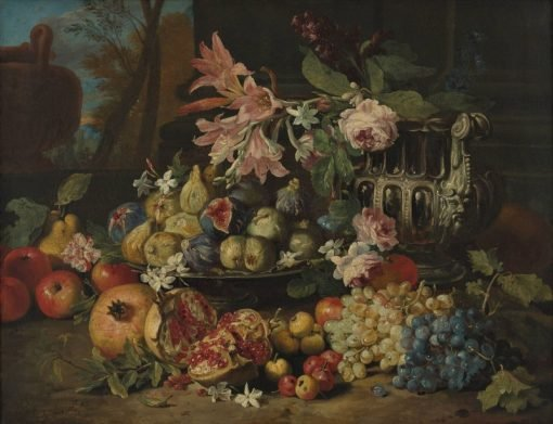 Still Life with Flowers and Fruit | Abraham Brueghel | Oil Painting