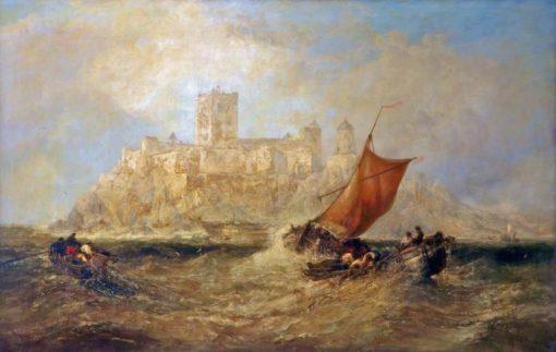 Bamburgh Castle | James Webb | Oil Painting