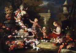 Floral Offering to Venus   Abraham Brueghel   Oil Painting