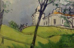 Fortress in Pavlovsk | Alexander Benois | Oil Painting