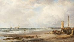 Coast Scene near Havre de Grace | James Webb | Oil Painting