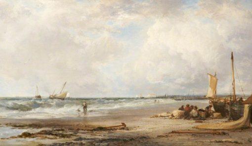 Coast Scene near Havre de Grace | James Webb | Oil Painting