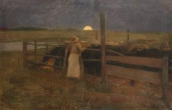 Moonrise   Bela Iványi Grunwald   Oil Painting