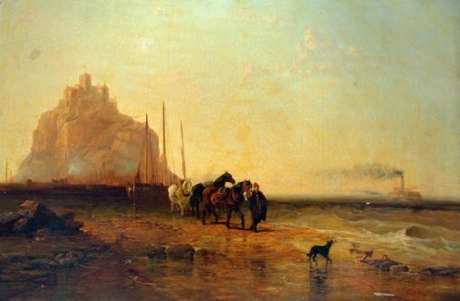 Evening off St Michaels Mount | James Webb | Oil Painting