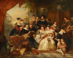 Rubens with His Patrons and Family | Nicaise de Keyser | Oil Painting