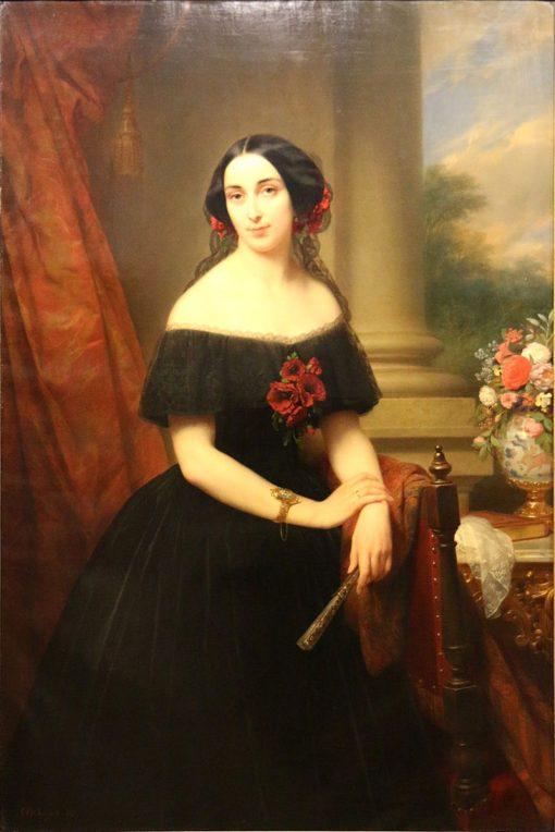 Portrait of Louise van Campenhout | Nicaise de Keyser | Oil Painting