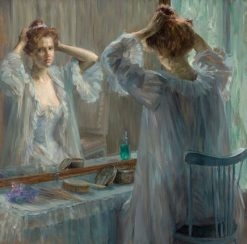La Toilette | Marie Louise Catherine Breslau | Oil Painting