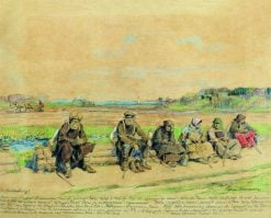 Pilgrims | Sergei Arsenevich Vinogradov | Oil Painting