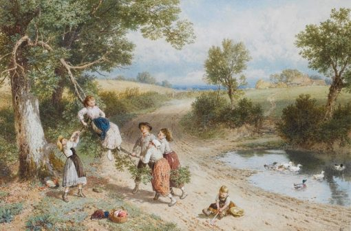 The Swing | Myles Birket Foster | Oil Painting