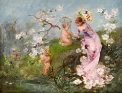 Allegory of Spring | Emile-Auguste Pinchart | Oil Painting