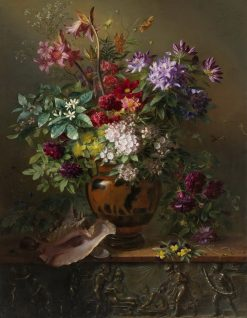 Still Life with Flowers in a Greek Vase | Georgius Jacobus Johannes van Os | Oil Painting