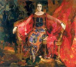 Portrait of the Prima Ballerina Aleksandra Balashova   Filipp Andreevich Maliavin   Oil Painting
