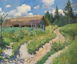 Country Road | Sergei Arsenevich Vinogradov | Oil Painting