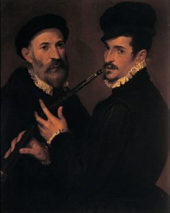 Double Portrait of Musicians | Bartolomeo Passarotti | Oil Painting