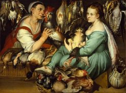 Le pollarole | Bartolomeo Passarotti | Oil Painting