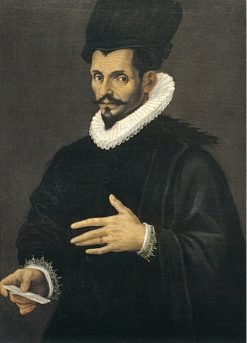 Portrait of a Man in Black | Bartolomeo Passarotti | Oil Painting