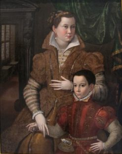 Portrait of a Noblewoman with Her Son | Bartolomeo Passarotti | Oil Painting
